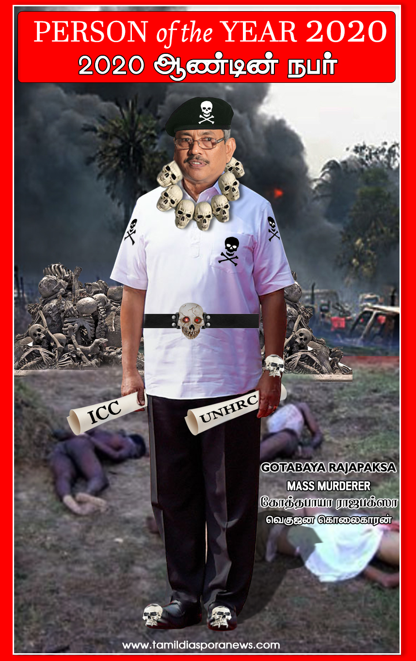 Tamil Diaspora News: Person of the Year in 2020.