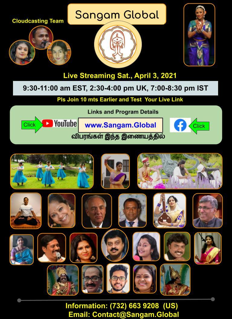 Sangam Global Live Broadcast, April 3, 2021