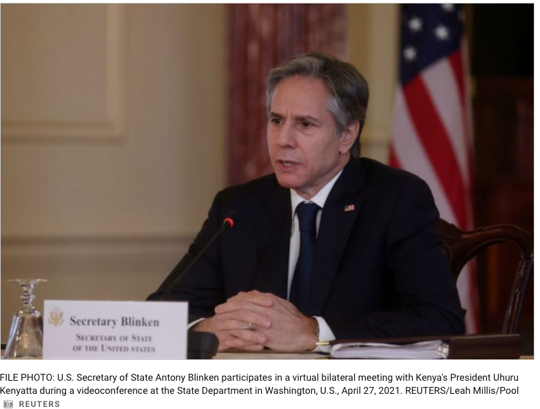Blinken Says China Acting 'More Aggressively Abroad' -'60 Minutes' Interview